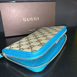 GUCCI GG Guccissima Zip Around Wallet NEW